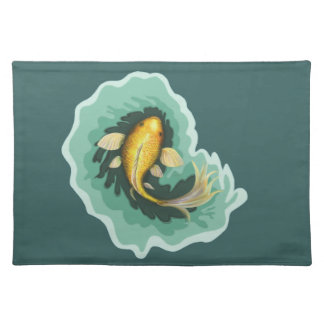 Classic Orange Koi Fish Placemat