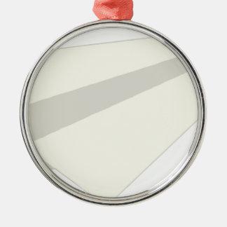 Classic Paper Aeroplane Silver-Colored Round Decoration