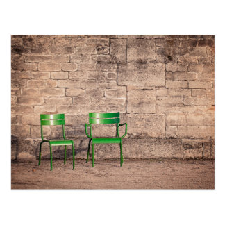 Classic Paris Park Chairs Photo Postcard