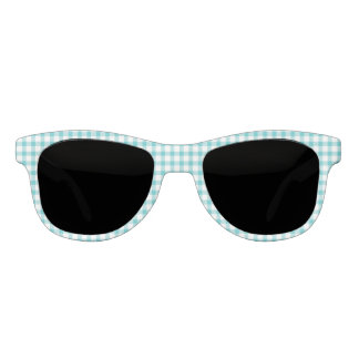 Classic Pastel Green Gingham Check Pattern Sunglasses