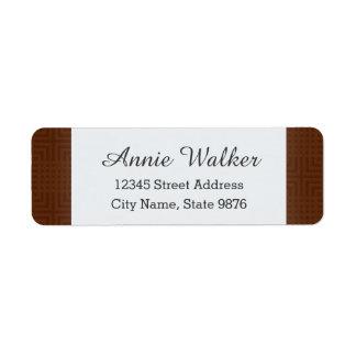 Classic Pattern -Chocolate- Custom Return Address Label