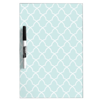 Classic Pattern On Designer Blue Dry Erase Board