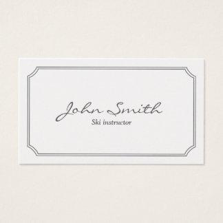 Classic Pearl White Ski Business Card