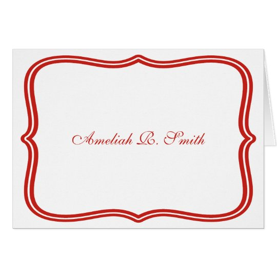 Classic Personal or Business Notecards Card