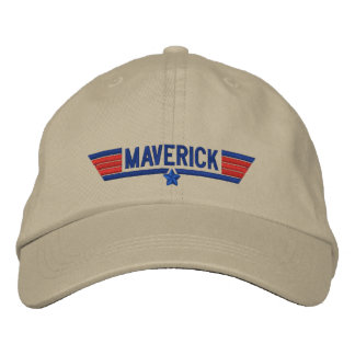 Classic Personalized Top Gun Maverick Your Text Embroidered Hats