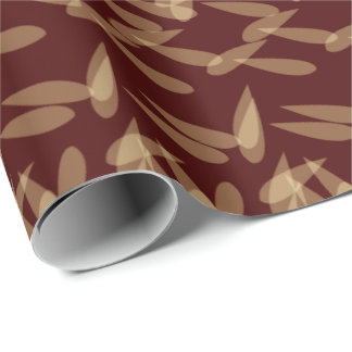 Classic Petals   Brown Wrapping Paper