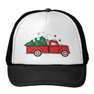 Classic Pick-Up Truck with Christmas Tree Cap