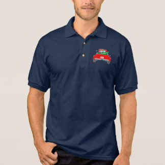 Classic Pick-Up Truck with Christmas Tree Polo Shirt
