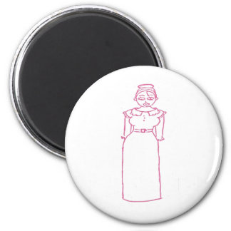 Classic Pink 6 Cm Round Magnet