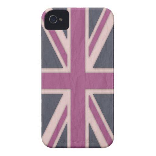 Classic Pink British iPhone 4 Case