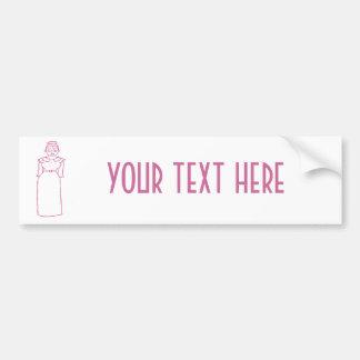 Classic Pink Car Bumper Sticker