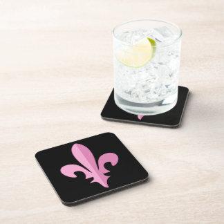 Classic Pink Fleur de lis coasters