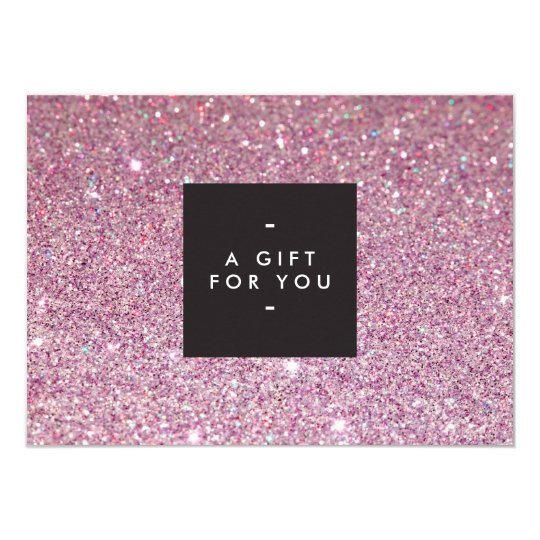 Classic Pink Glitter Salon Gift Certificate Card