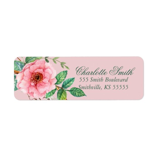 Classic Pink Peony Feather Floral Design