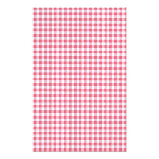 Classic Pink Picnic Gingham Stationery