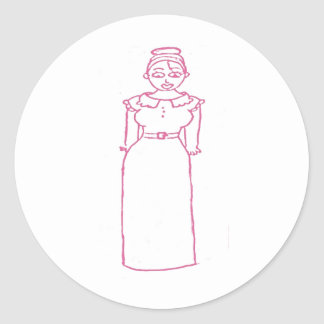 Classic Pink Round Sticker