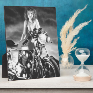 Classic Pinup Classic Motorcycle Photo Plaque