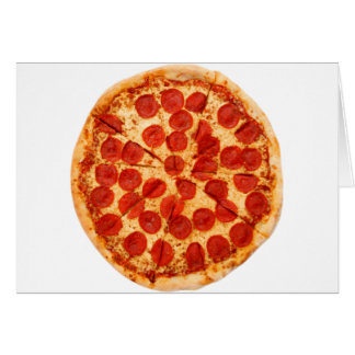 classic pizza lover greeting card