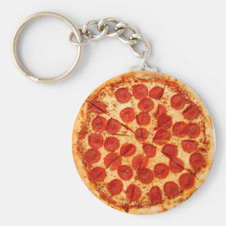 classic pizza lover key ring
