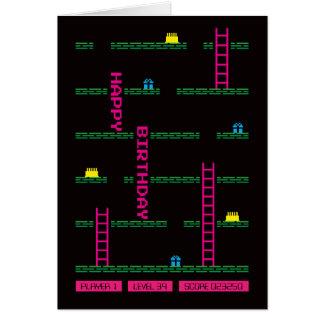 Classic Platform Computer Game Birthday Card