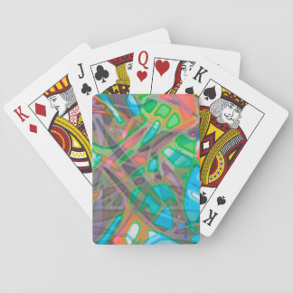 Classic Playing Cards Colorful Stained Glass