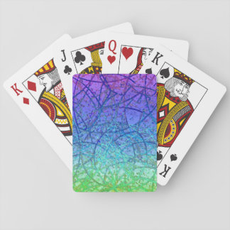 Classic Playing Cards Grunge Art Abstract