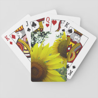 Classic Playing Cards Sunflowers photo