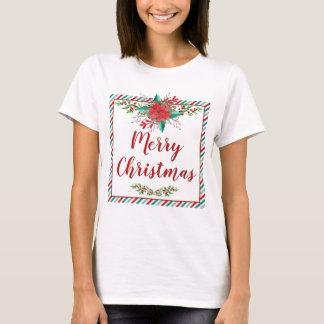 Classic Poinsettia Christmas Holiday T-Shirt