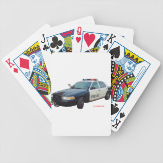 Classic_Police_Car_Black_White Bicycle Playing Cards