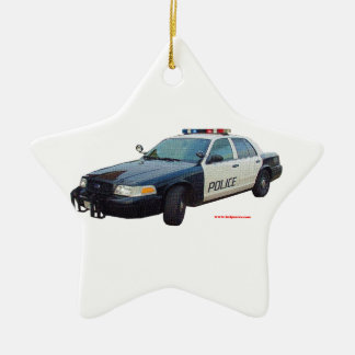 Classic_Police_Car_Black_White Christmas Ornament