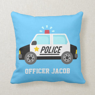 Classic  Police Car with Siren For Boys Room Cushion