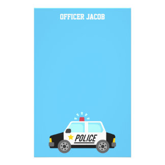 Classic Police Car with Siren For Kids Customized Stationery