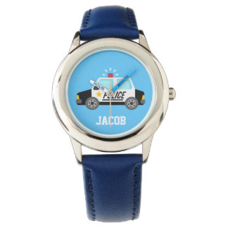 Classic Police Car with Siren For Kids Watch