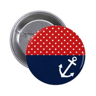 Classic Polka Dot Nautical Love Pins