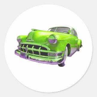 Classic Pontiac Round Sticker