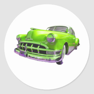 Classic Pontiac Round Stickers
