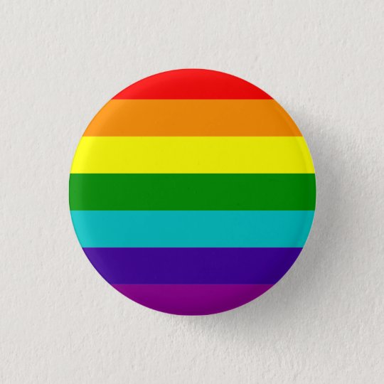 Classic pride flag (with cyan) 3 cm round badge