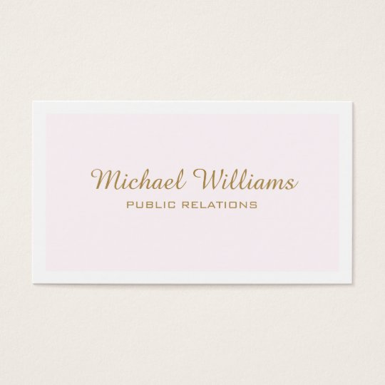 Classic professional elegant rose simple minimum business card
