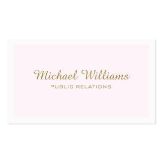 Classic professional elegant rose simple minimum pack of standard business cards