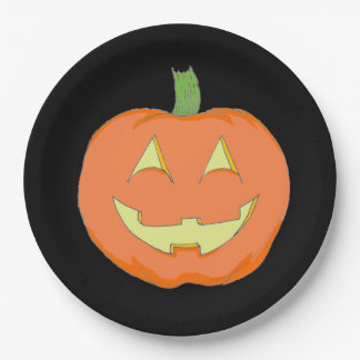 Classic Pumpkin Party Plate