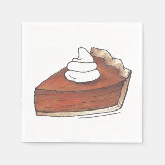 Classic Pumpkin Pie Slice Thanksgiving Dinner Food Disposable Napkin