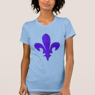 Classic Purple Fleur de lis womens t-shirt