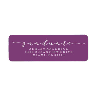Classic Purple Graduation Address Labels