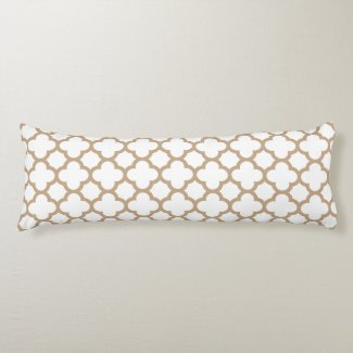 Classic Quatrefoil Body Pillow - Almond