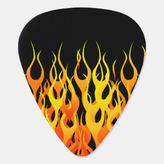 Classic Racing Flames Hot Rod  Style Plectrum