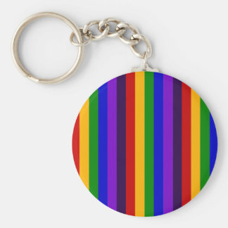 Classic Rainbow Vertical Stripes Colorful Gifts Keychains