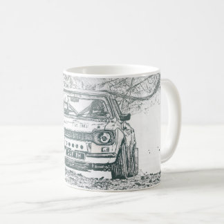 classic rally car mug