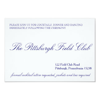 Classic Reception Card 9 Cm X 13 Cm Invitation Card