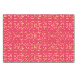 Classic red and gold filigree design tissue paper