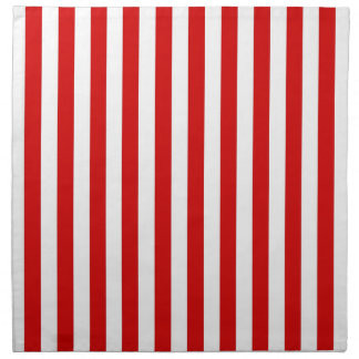 Classic Red and White Stripe Pattern Napkins